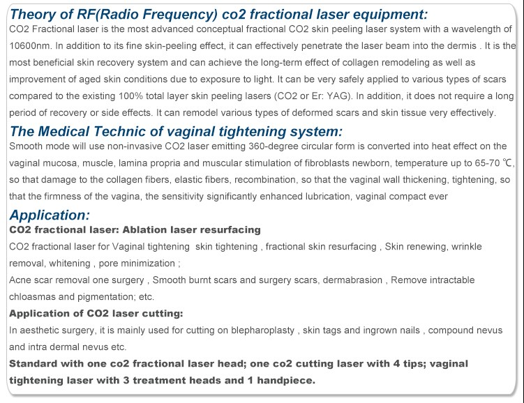 Alibaba high quality portable co2 fractional laser/fractional co2 laser equipment