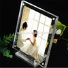 4x6 inch desktop lucite clear acrylic wedding anniversary photo frame