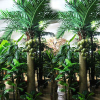 Artificial Washingtonia Palm Tree Simulation Arecaceae Tree Man-made Tree For Indoor Decration
