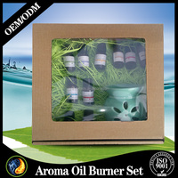 Pure natural clarity Essential Oil 6 Set with oil burner for house fragrance
