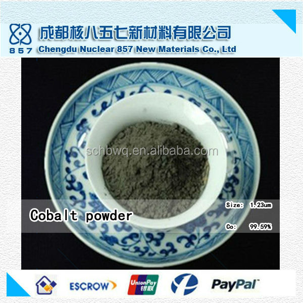 China factory-outlet price of Cobalt metal powder Co 99.58% 1.35um