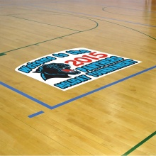 custom logo removable vinyl PVC transparent window decal advertising car sticker 3D floor sticker