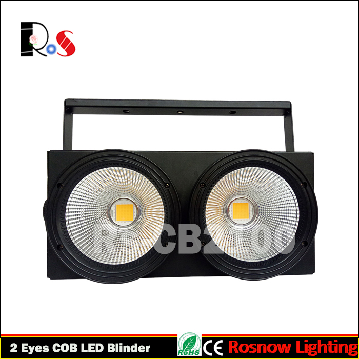 Wedding audience lighting 2 eyes 100w LED COB Blinder light for theater/church