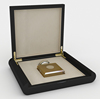 Luxury single pack black wooden perfume box with golden logo