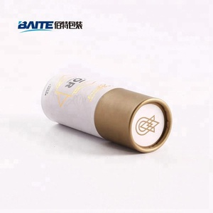 Round cardboard tube for cosmetic packaging