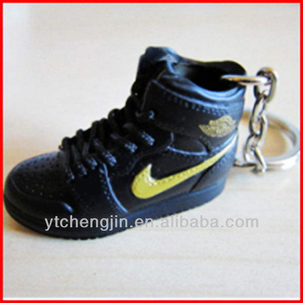 new office promotion gift 2014/solid air jordan sneaker 3d key chains