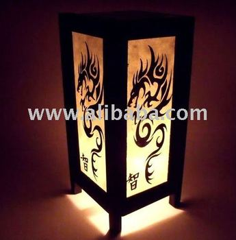 Chinese Dragon Style Modern Zen Art Table Lamp Shades