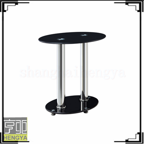 modern cheap round shape swivel glass coffee table with stools