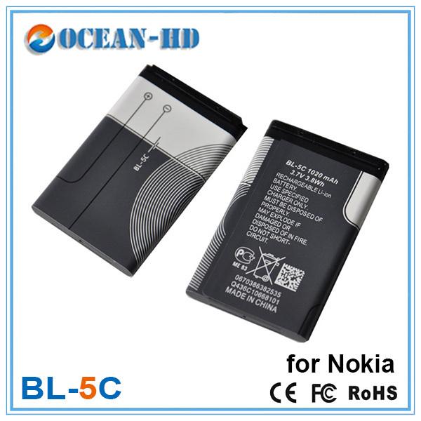 50x оптовая продажа цена оригинальный сменный аккумулятор BL-5C BL-5C для Nokia 1000 1010 1100 1108 1110 1111 1112 1116