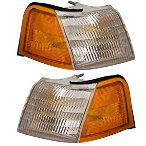 1989-1995 Ford Thunderbird & Mercury Cougar Corner Park Lamp Turn Signal Marker Light Pair Set Right Passenger And Left Driver Side (1995 95 1994 94 1993 93 1992 92 1991 91 1990 90 1989 89)
