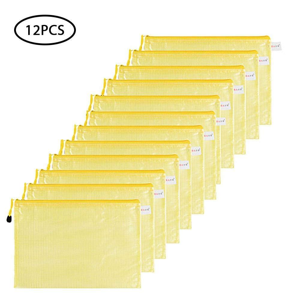 ceedca984f81 Buy A5 Zipper File Bags - 12 Pcs, Zippered Waterproof PVC Pouch ...