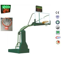 Recreation custom logo basketball pole height portable basketball goal