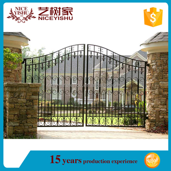 2016 Latest Main Gate Designs/iron Pipe Gate Design/simple Fence ...