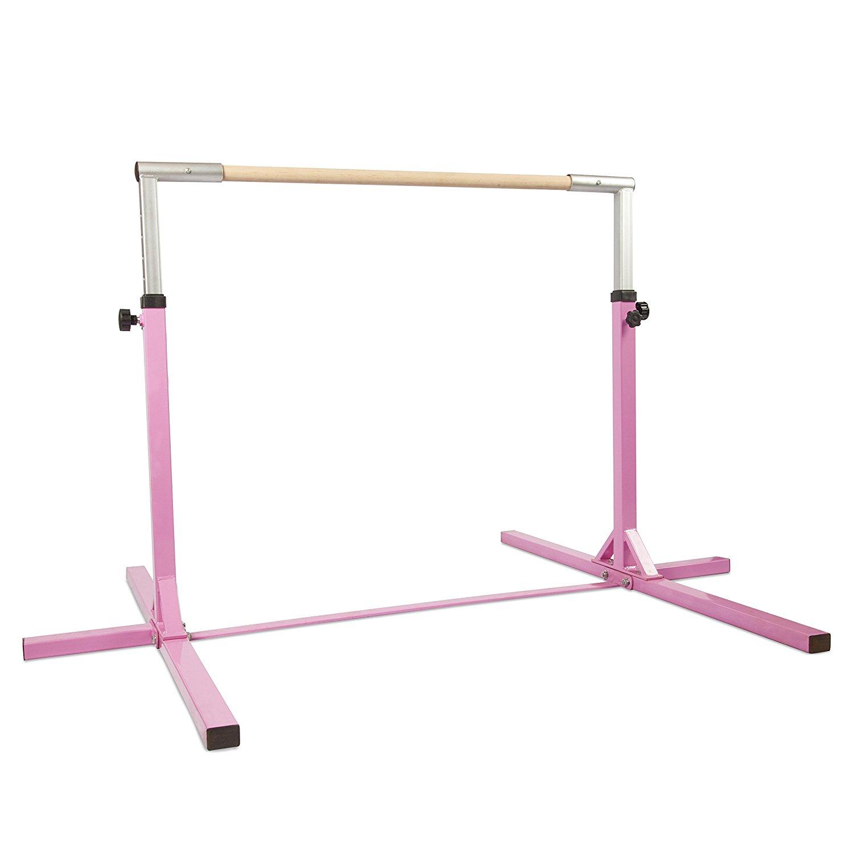 bfe8582aa626 Get Quotations · Xtek Gym Gymnastics Bar - Adjustable Height Horizontal Bar    3-5ft   Sturdy Gymnastics