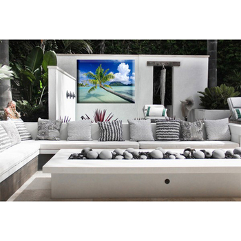 Beautiful Modern Seascape Painting Picture Watercolor Wall Art For Outdoor Garden Swimming Pool Decor Waterproof Canvas