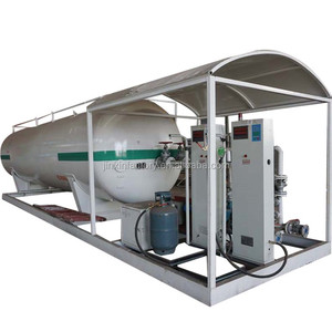 lpg gas cylinder skid filling station equipment 5m3 lpg gas storage tanks for sale