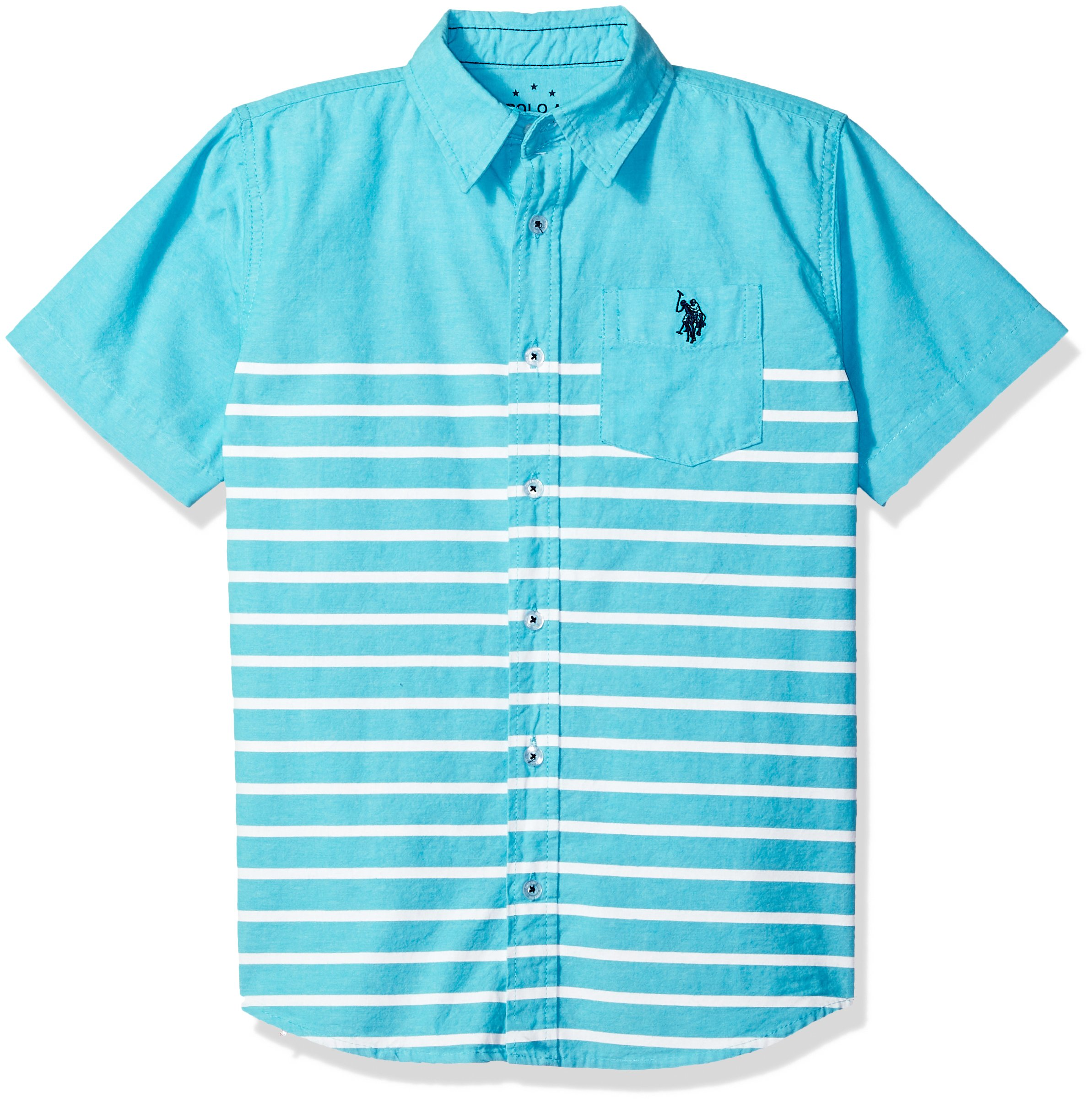 U.S. Polo Assn. Boys' Short Sleeve Striped Sport Shirt