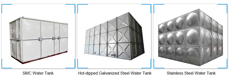 1000 liter Rectangular Collapsible Modular panel bolted  fiberglass water tank