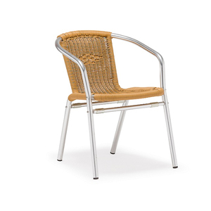 Bright aluminum used outdoor rattan chair furniture