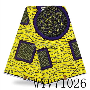 WYV71026- Factory price cotton hollandis african print wax fabric 100% cotton soft touch holland