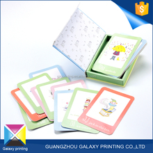 High quality and fast delivery printing supplier gift mini cardboard card deck box for children