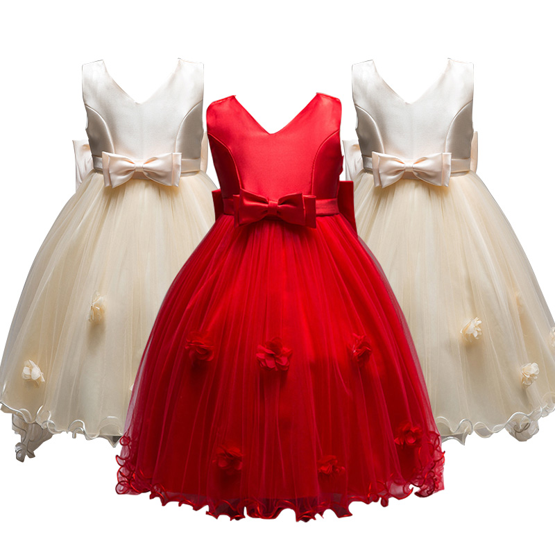 Wholesale Frock Design For Baby Girl Designer Childrens Clothes Kids Party Wear Dress L555
