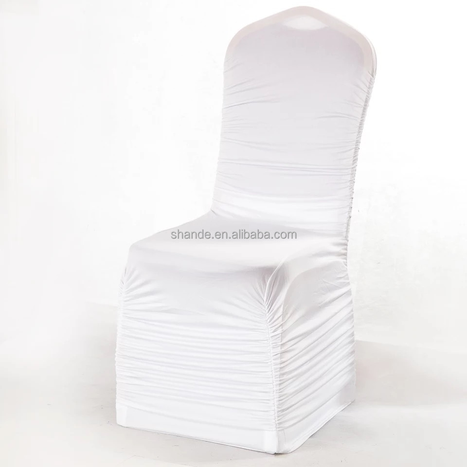 Shirred Wedding lycra spandex chair cover / high quality spandex chair covers