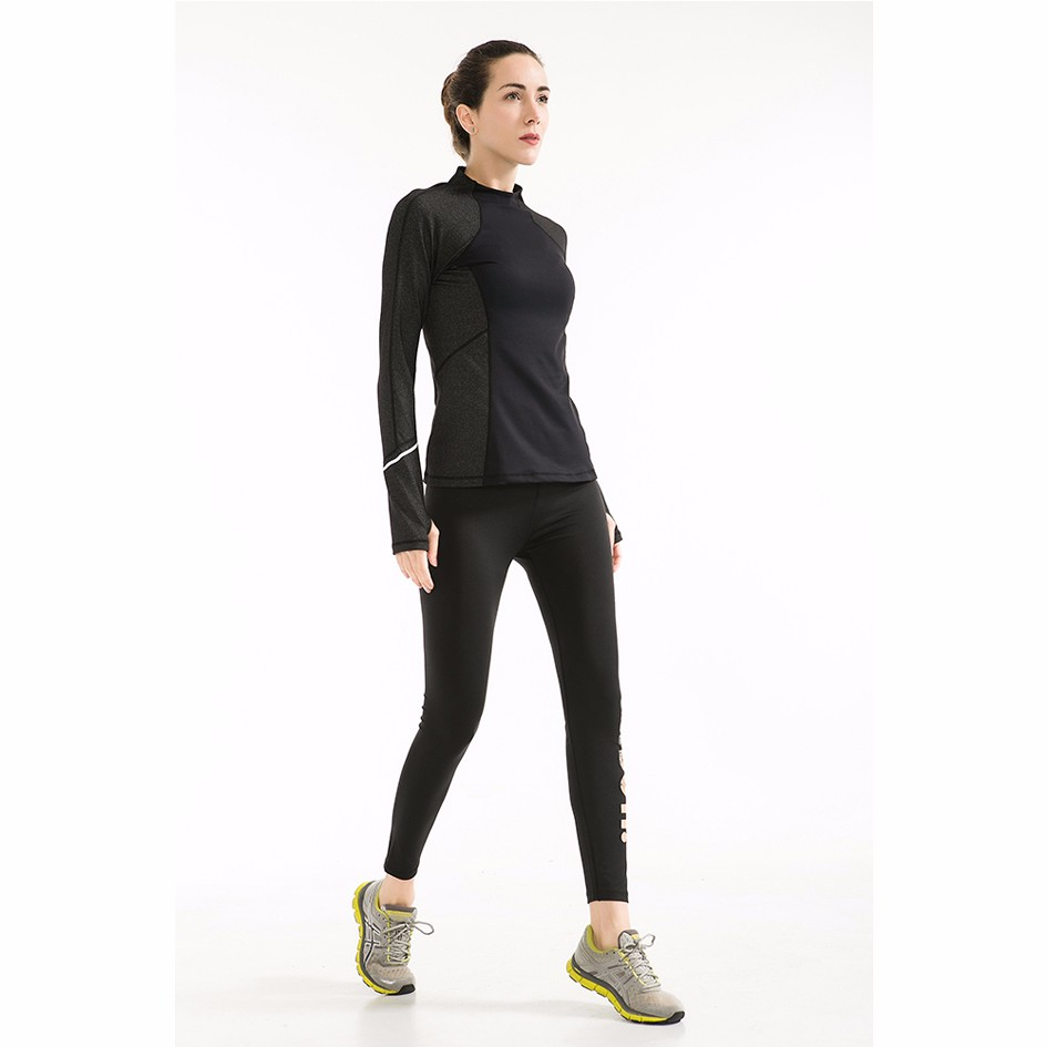 fashionable products long sleeve t- shirt design for gym clothes ladies