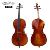 With bag bow rosin high end all solid wood hand made in China flame maple cello