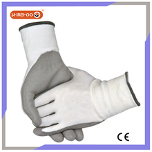 SHINEHOO White Cut Resistant PU Coated Plastic Industrial Gloves