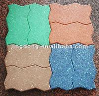 2015 new products/red Dog-bone rubber tile/rubber floor tiles
