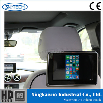 9 Inch HDMI Car Lcd USB Monitor AV Input Advertising Screens For Cars Replacement Tv