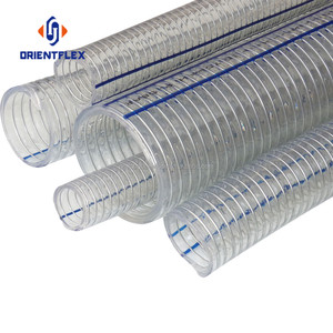 Non-toxic flexible pvc Transparent steel wire spiral spring hose