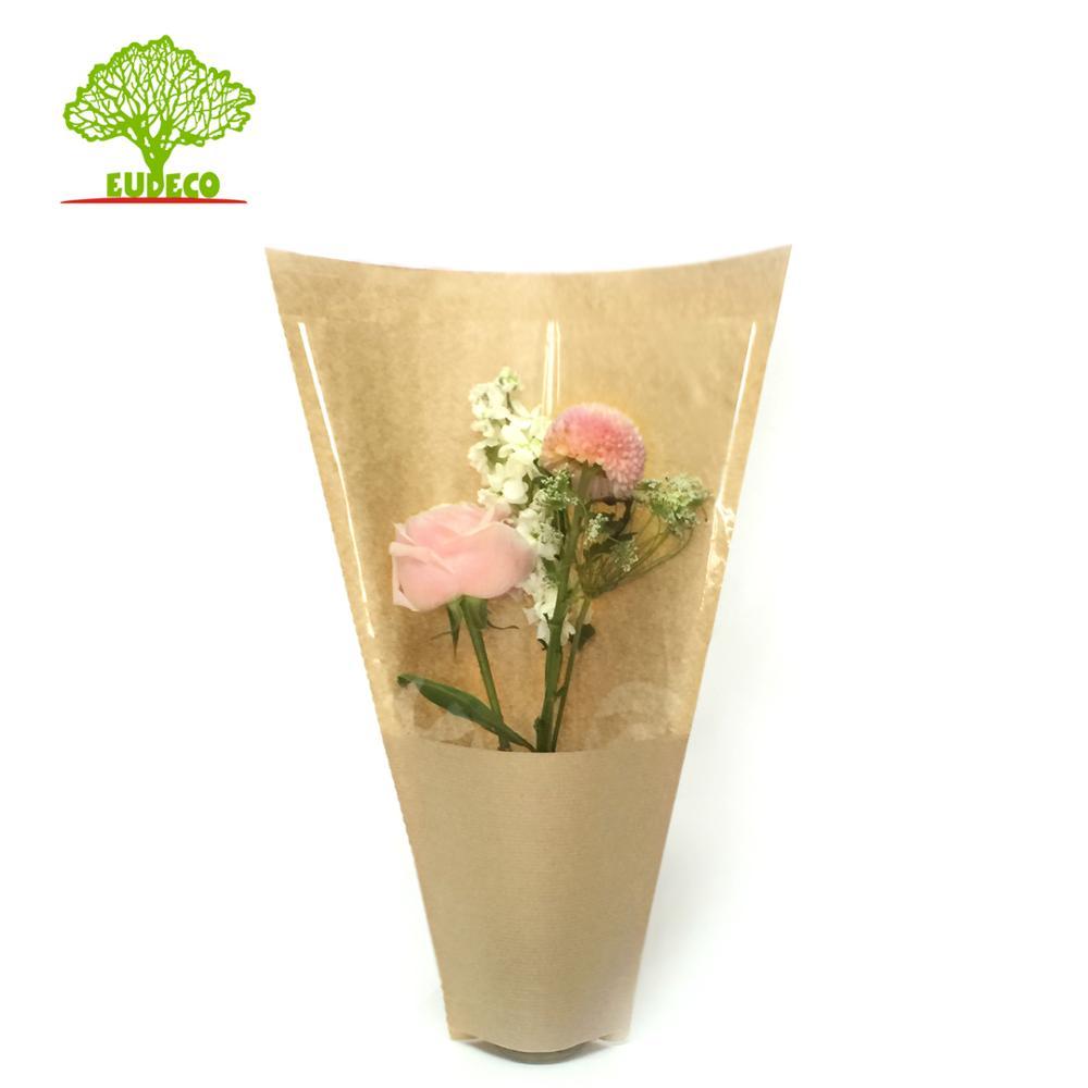 Vana Üretim Hattı Çin Tedarikçi ile Çiçek Düz Alt Kraft Kağıt Torba İhracat