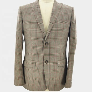 New in Plaid Coat Pant Designer Made To Measure Suits