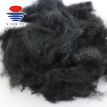 Micro Recycled Psf Polyester Staple Fiber Black 1.5D*38M