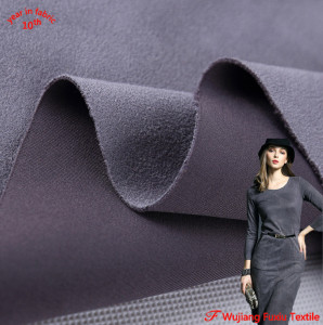 hot sale high quality heavy knit micro faux suede air layer fabric for clothing