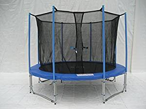 ExacMe Trampoline W-Safety Pad, Inner Enclosure Net, Ladder Combo C-Series C10-C16 (10 Foot, 12 Foot, 14 Foot, 15 Foot, 16 Foot)