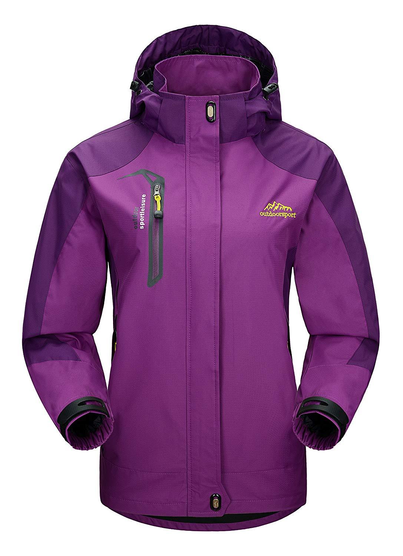 Kedera Womens Patchwork Raincoat Waterproof Packable Ponchos Jackets with Hood