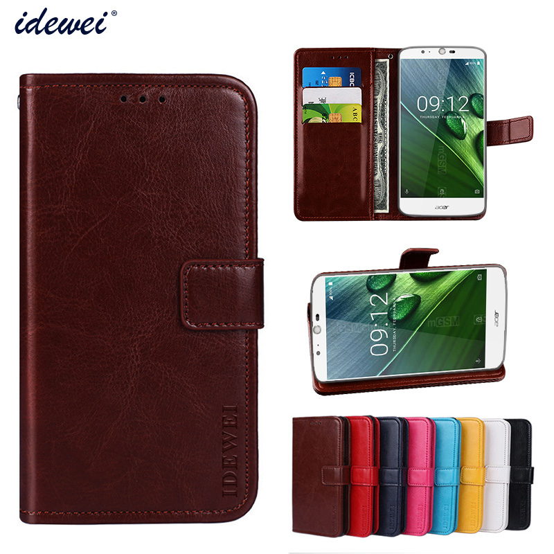 Luxury Flip PU Leather Wallet Mobile phone Cover Case For Acer Liquid Zest Plus with Card Holder