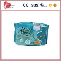 blue cotton sanitary napkin pad with negative ion