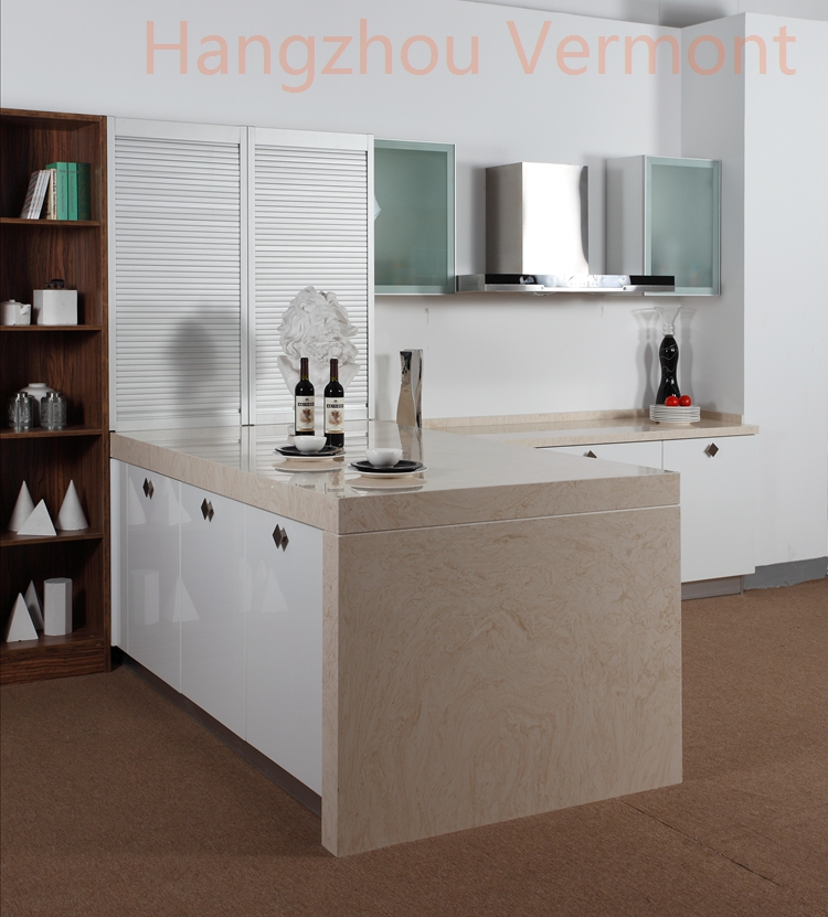 Hangzhou Vermont Pintura Blanca de Alto Brillo Gabinete de Cocina de ...