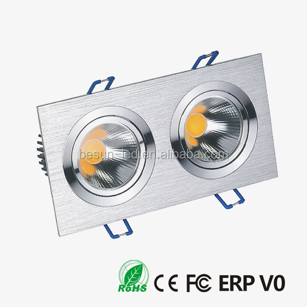 Natural white led ceiling mount light 2x6W square downing lights 82ra cob ceiling downlight