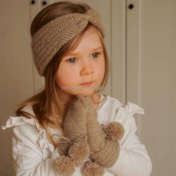 new style kids Handmade knitted Headband mixed colors corchet hairband  winter headband 0ec75fbd3d2