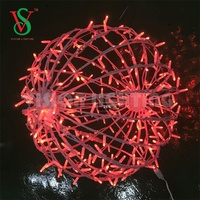 Christmas holiday 300m neon led street light illuminatied ball chandeliers pendant outdoor decoration lights