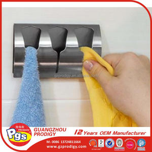 Adhesive stainless steel clips for towel holder towel hanger