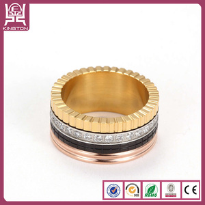 latest gold stainless steel rings design for women with price