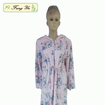 Womens Flannel Bathrobe Ladies Long Housecoats - Buy Long ... 28e4a36d37