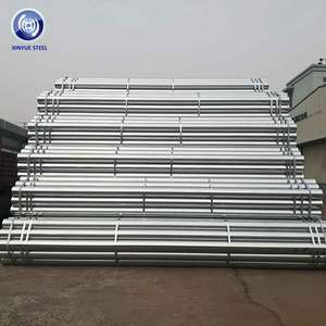 False Work Piles Hot Dip Galvanized Tube OD 48.3mm BS 1139 Standard Scaffolding Tube