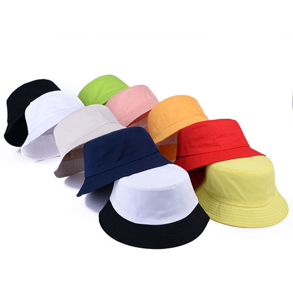Jelly-colored Cotton Women Wide Bucket Hat Fisherman Cap